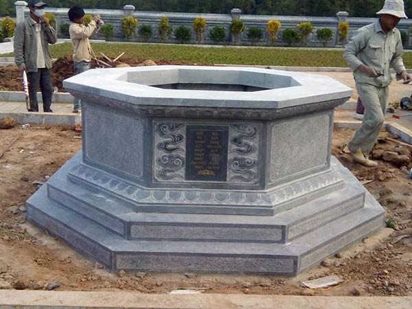 Mẫu mộ đá bát giác đẹp