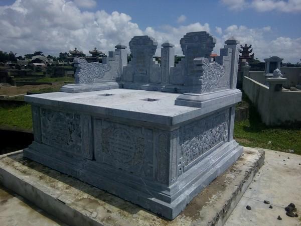Mẫu mộ đá đôi đẹp chất lượng cao