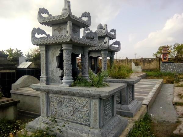 Ngôi mộ đẹp bằng đá hai mái chất lượng cao