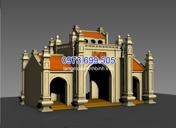 Hình ảnh 3D một mẫu cổng đình làng