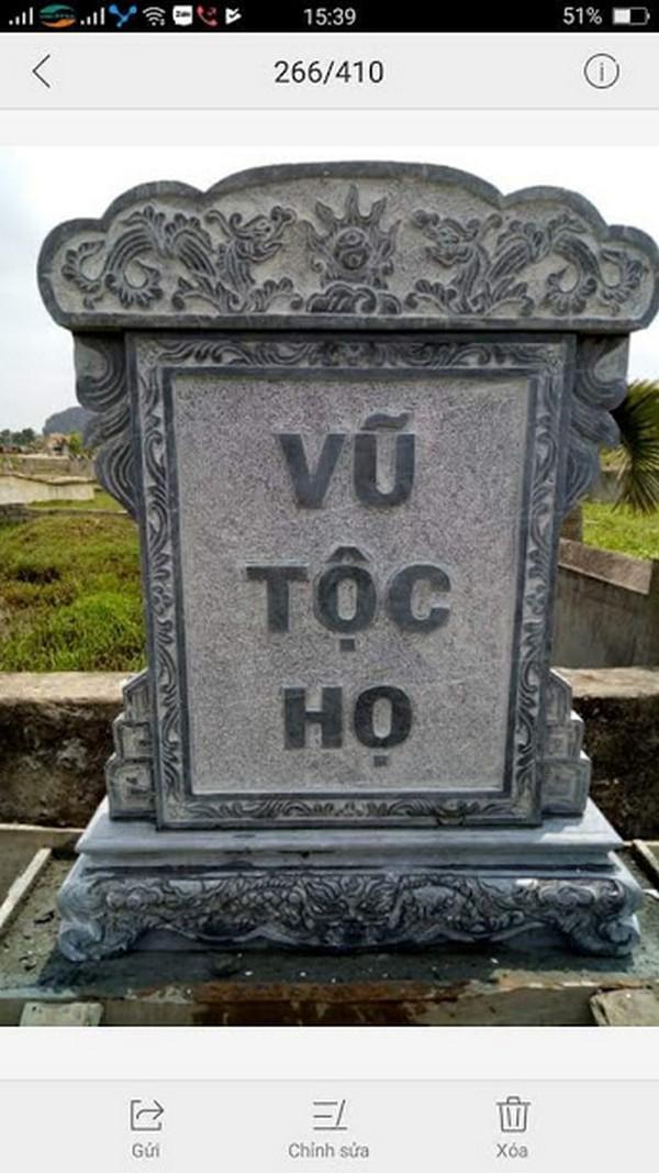 kích thước bia mộ theo phong thủy