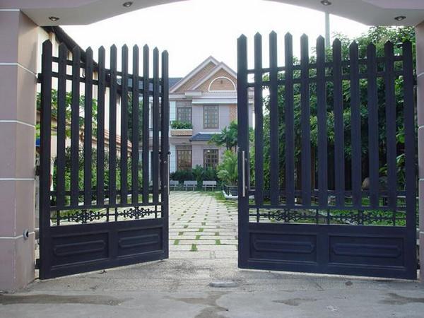 kích thước cổng sắt 2 cánh