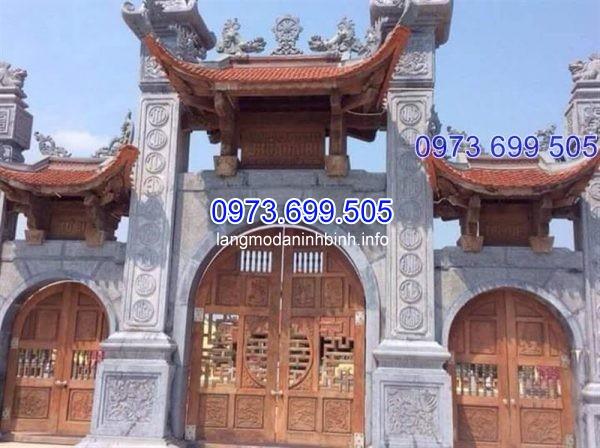 Cổng tam quan chùa bằng đá 2019