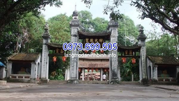 Cổng chùa đẹp dạng tam quan