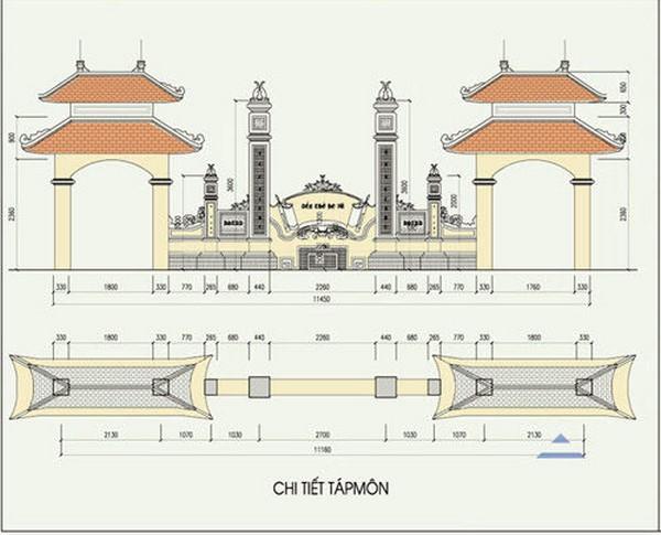 Bản vẽ mẫu nhà thờ họ đơn giản