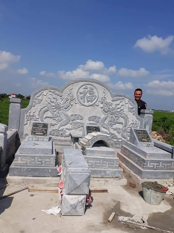Thi công khu lăng mộ bằng đá