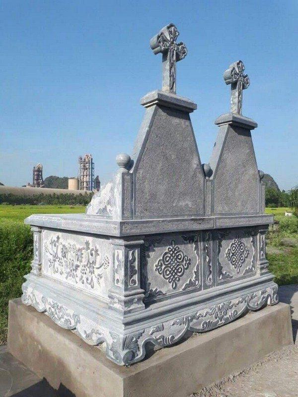 Mẫu mộ đá đôi đẹp thiết kế cao cấp chất lượng tốt giá hợp lý