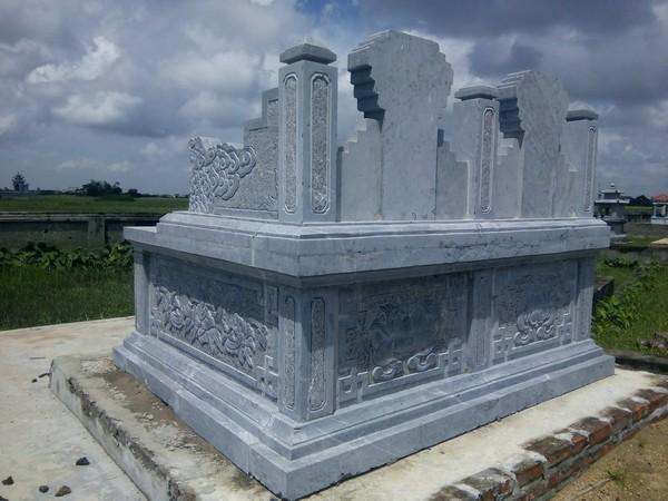 Mẫu mộ đá đôi đẹp thiết kế cao cấp chất lượng cao giá hợp lý