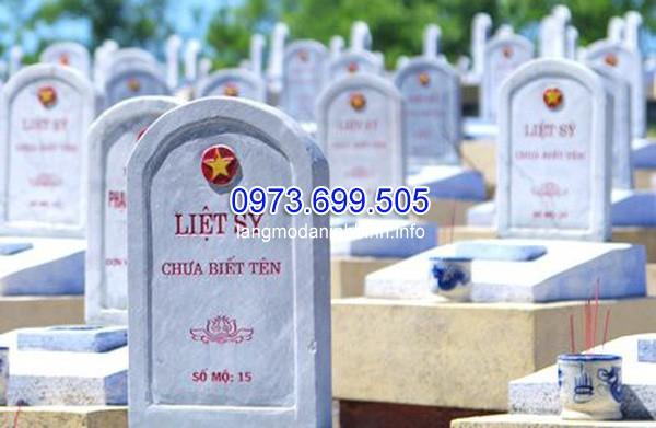 Bia tưởng niệm mộ liệt sĩ vô danh
