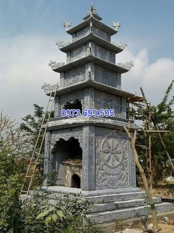 Xây mộ tháp kích thước lớn