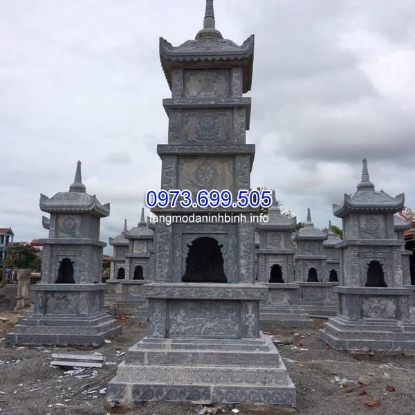 Mẫu mộ mộ tháp Phật giáo 5 tầng