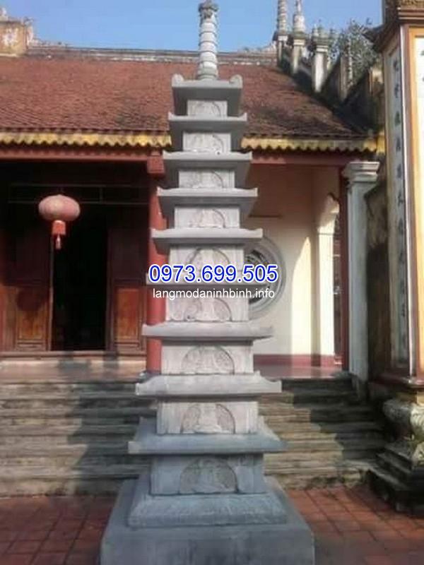 Mẫu mộ tháp Phật giáo 9 tầng
