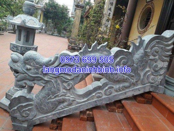 Báo giá rồng đá bậc thềm đình chùa chính xác nhất hiện nay