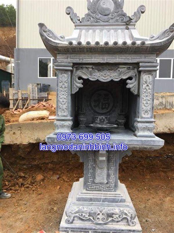 Miếu thờ thần linh ngoài trời bằng đá đẹp nhất tại Ninh Vân