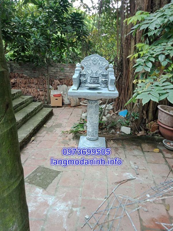 Mẫu bàn thờ thiên bằng đá đẹp chuẩn kích thước phong thủy