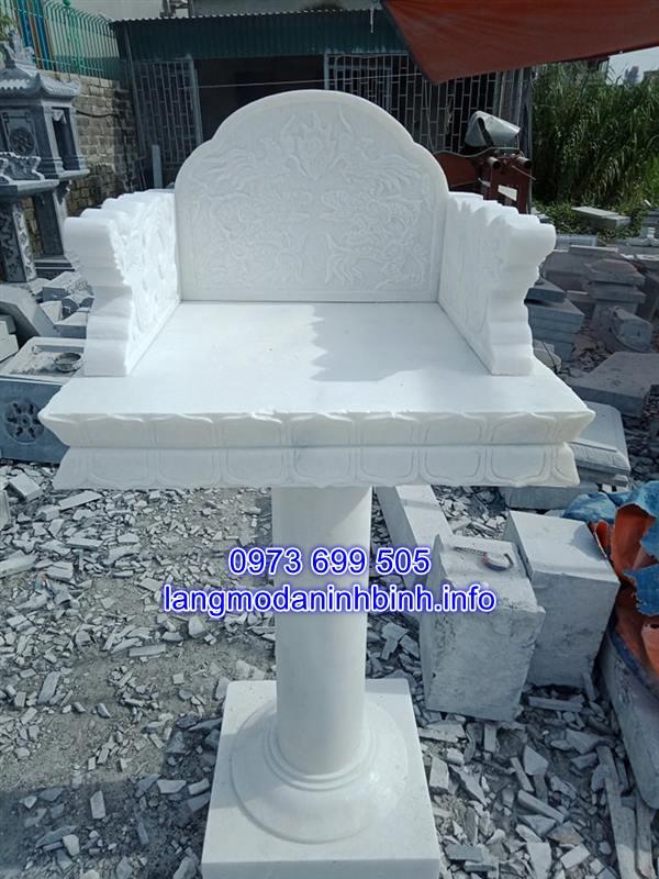 khóm thờ bằng đá trắng tự nhiên chất lượng cao giá hợp lý