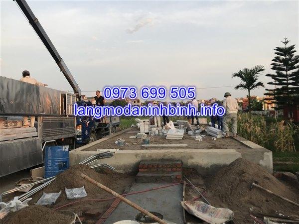 Hình ảnh lắp đặt khu lăng mộ đá tại huyện thanh miện tỉnh Hải Dương