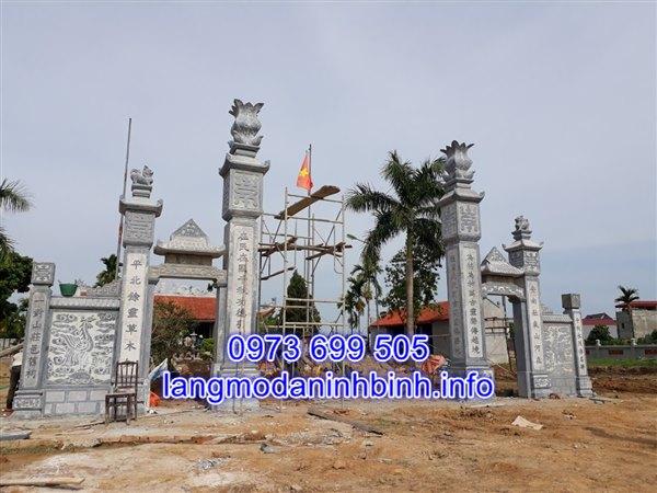 Báo giá cổng đá từ đường nhà thờ họ chính xác nhất tại Ninh Vân Ninh Bình