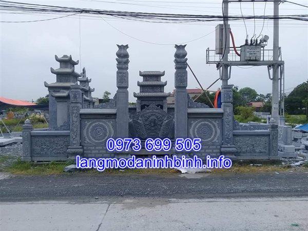 Bức bình phong đá cổng khu lăng mộ đẹp thiết kế tinh xảo