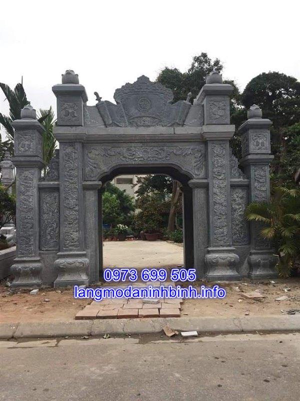 Kích thước cổng đá nhà thờ họ chuẩn phong thủy nhất hiện nay;