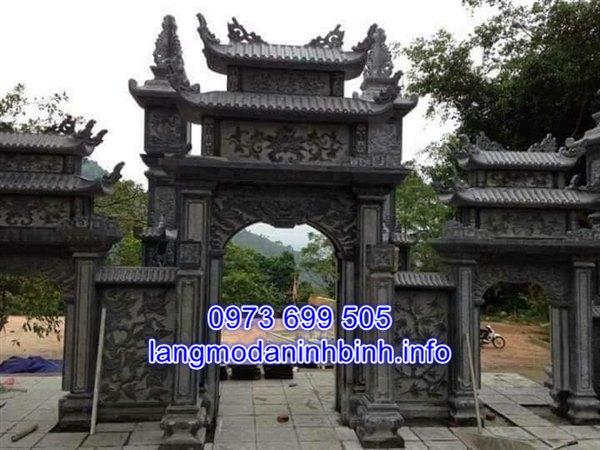 Mẫu cổng đá đình chùa nhà thờ họ đẹp nhất hiện nay