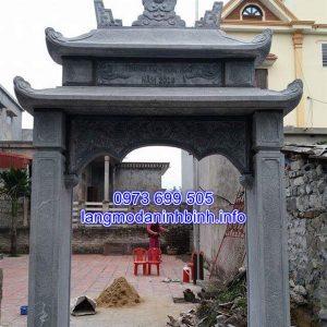 Mẫu cổng đá nhà riêng bằng đá xanh tự nhiên cao cấp