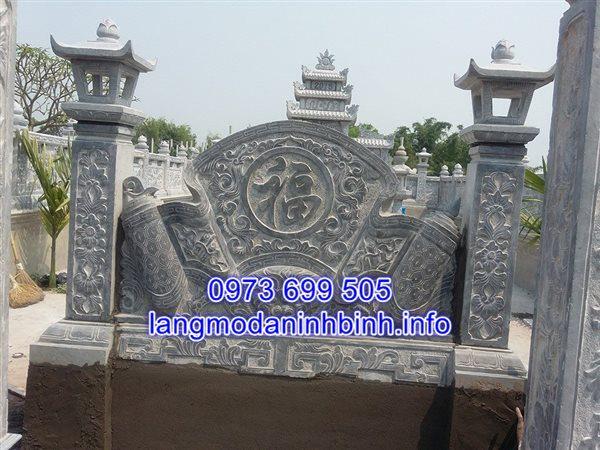 Tắc môn đá đình chùa đẹp được chế tác tại Ninh Bình