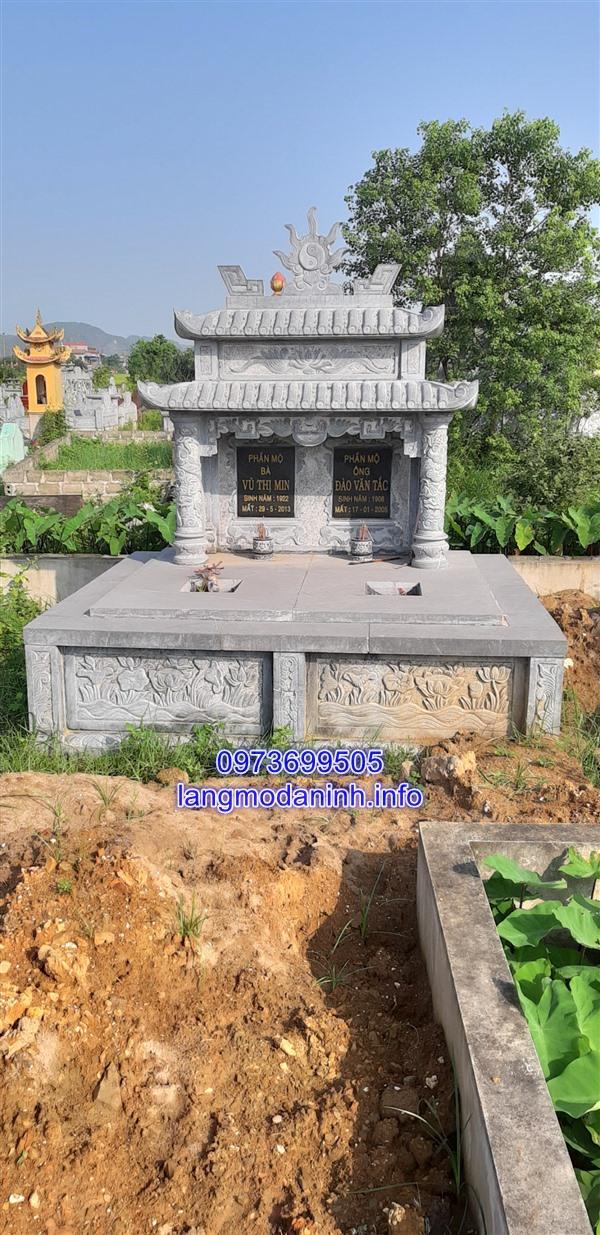 Địa chỉ bán các mẫu mộ đá đôi uy tín và chất lượng tại Ninh Vân Ninh Bình;