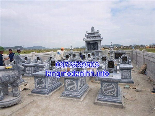 Khu tháp mộ đá gia đình đẹp được lắp đặt tại Kiên Giang