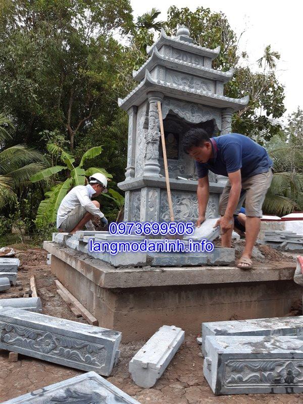 lắp đặt lăng mộ đá tại huyện Tam Bình tỉnh Vĩnh Long 01
