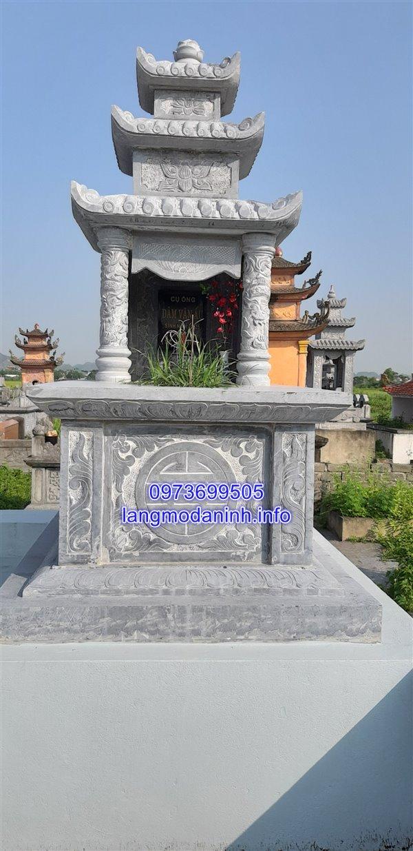 Mẫu mộ đá cao cấp đẹp thiết kế đơn giản 26