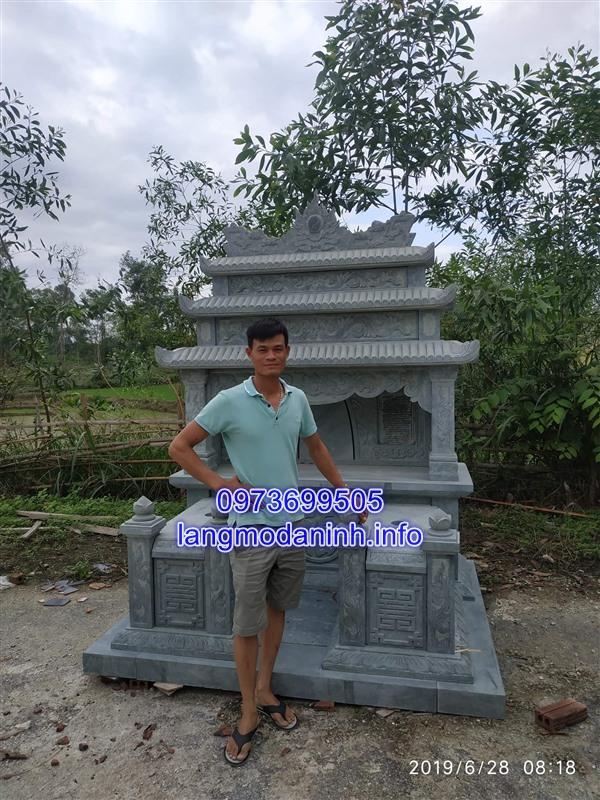 Mẫu mộ đôi bằng đá đẹp thiết kế cao cấp giá rẻ 01