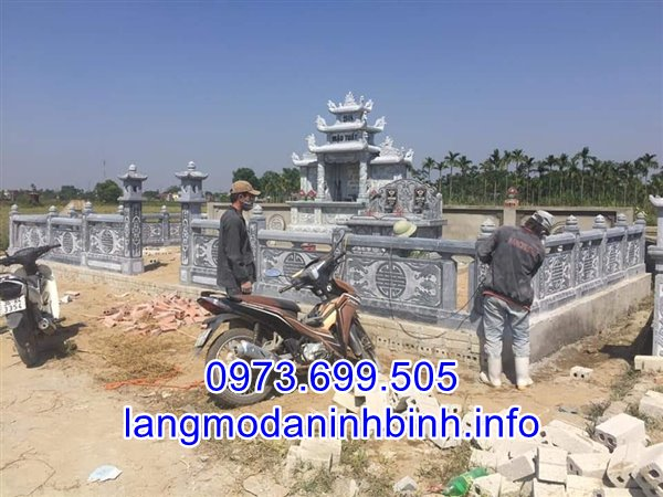 Khu lăng mộ đá đẹp thiết kế cao cấp giá rẻ bán tại Hà Nội 01