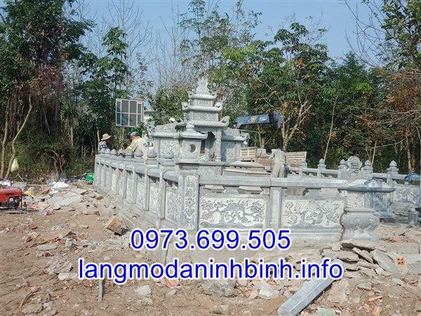 Lắp đặt khu lăng mộ đá đẹp tại Hà Nội