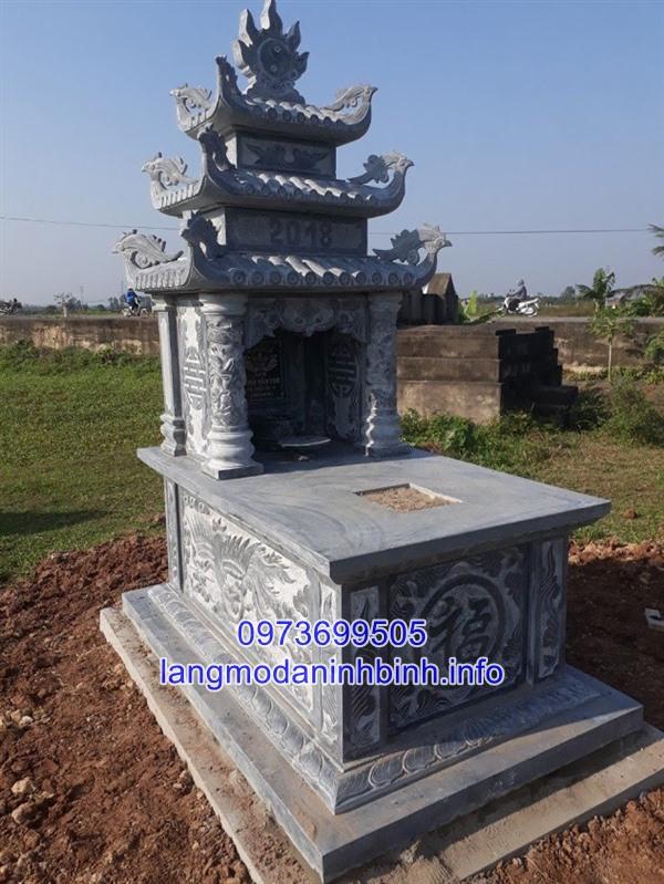 Lắp đặt mộ ba mái bằng đá trên toàn quốc uy tín chất lượng