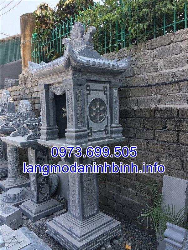Mẫu bàn thờ thiên có mái bằng đá xanh đẹp dược chế tác tại Ninh Vân Ninh Bình