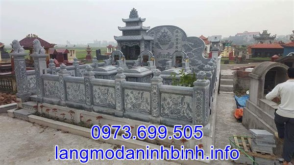 Mẫu lăng mộ đá đẹp thiết kế cao cấp bán tại Hải Dương 01