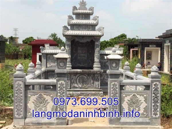Mẫu lăng mộ đá kích thước nhở bán và lắp đặt tại Hà Nam;