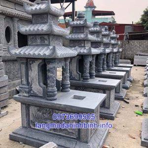 Mẫu mộ ba mái đá đẹp thiết kế hiện đại chất lượng cao giá tốt 03