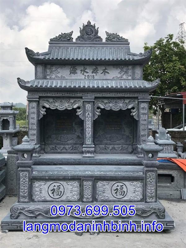 Mẫu mộ đôi ha mái bằng đá đẹp chất lượng cao được bán trên toàn quốc;