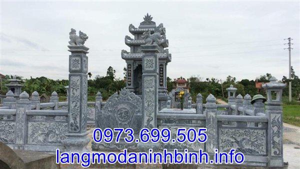 Khu lăng mộ gia đình bằng đá xanh chuẩn kích thước phong thủy