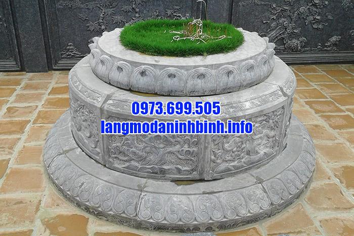 Địa chỉ bán lăng mộ đá tròn Ninh Vân chất lượng