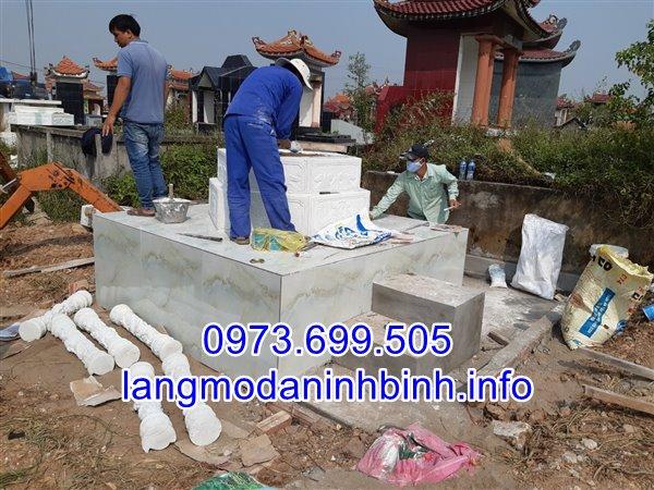 Hình ảnh lắp đặt mẫu mộ lục giác