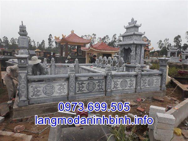 Lắp đặt lăng mộ đá gia tộc tại Nam Định uy tín chất lượng