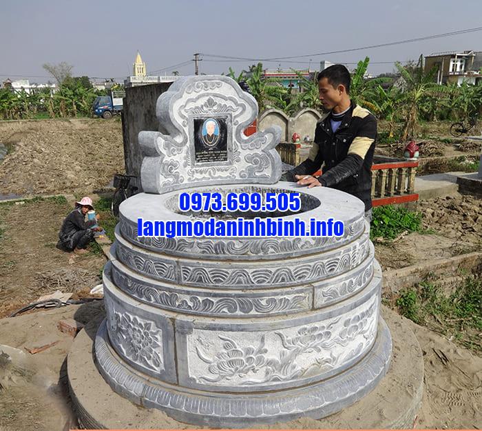 Mẫu lăng mộ đá tròn được ưa chuộng tại Ninh Vân