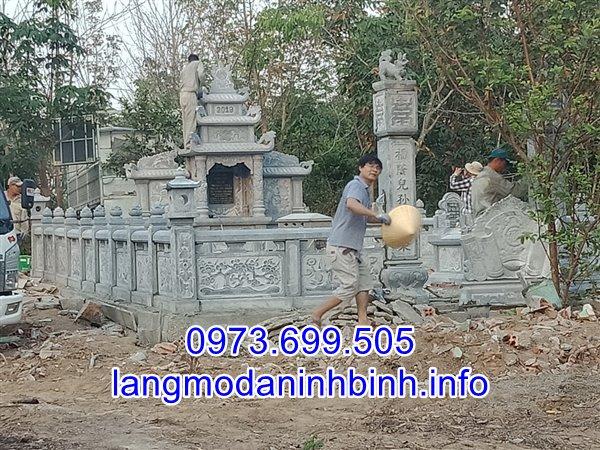 Mẫu lăng mộ đá bán tại Nam Định