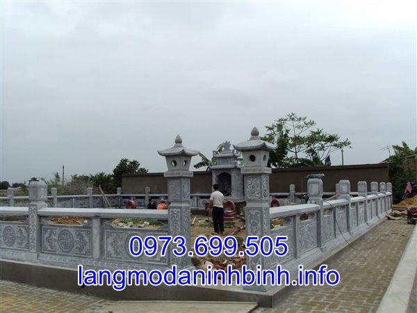 Mẫu lăng mộ đá gia tộc bán tại Vĩnh Phúc 01
