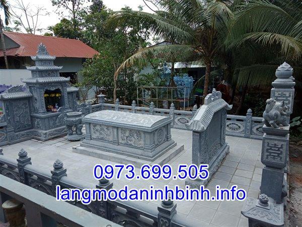 Mẫu lăng mộ đá gia tộc bằng đá xanh tự nhiên bán tại Hưng Yên