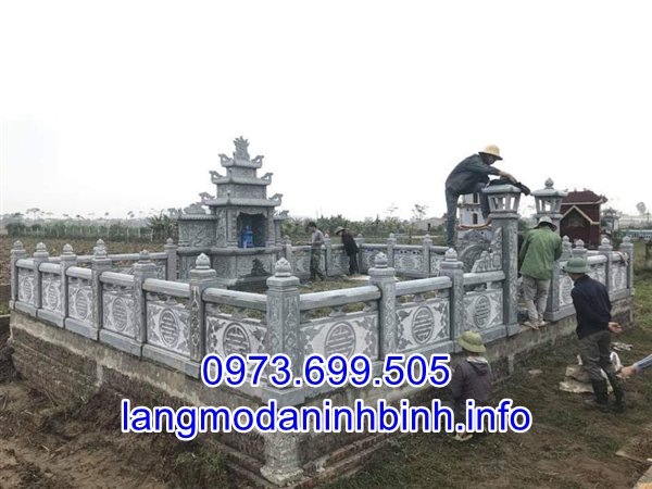 Mẫu lăng mộ đá gia tộc bán tại Nam Định 01