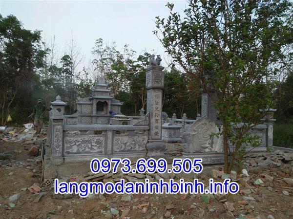 Mẫu lăng mộ đá gia tộc thiết kế cao cấp bán tại Thái Bình